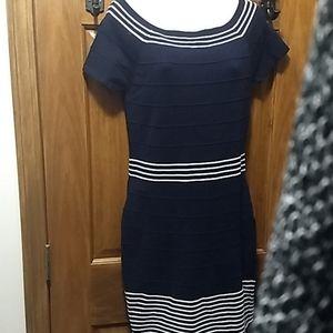Max Studio Navy Blue Dress NWT